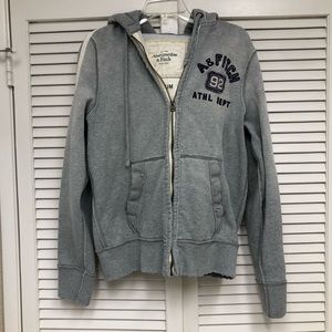 Abercrombie & Fitch Grey Hoodie Medium